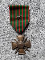 Médaille Française - Croix De Guerre De 1914-1918 Avec étoile - WWI - Francia