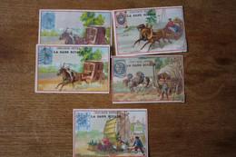 5 Chromos Images Anciennes   Chicorée Exposition Universelle      Lot 79 - Tea & Coffee Manufacturers