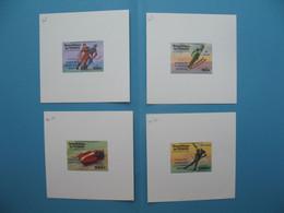 Tchad épreuve De Luxe N° 308 - 309 Et PA 170 - PA 171   Sport Jeux Olympiques D'hiver à Innsbruck  Neuf ** à Voir - Chad (1960-...)