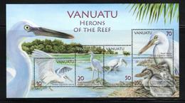 Vanuatu ; Block Herons Of The Reef  (birds) MNH/** ; (van01) - Vanuatu (1980-...)