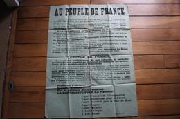 Affiche Guerre 1914 1918  AU PEUPLE DE FRANCE - Affiches