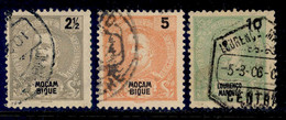 ! ! Mozambique - 1898 King Carlos 2 1/2 To 10 R - Af. 53 To 55 - Used - Mosambik