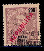 ! ! Lourenco Marques - 1917 D. Carlos Local Republica 200 R - Af. 153 - Used - Lourenco Marques