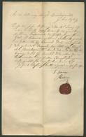 1872. SÁROSPATAK , JUDAICA Dekoratív, Judaica Dokumentum, A Rabbi Aláírásával, Hitközségi Viasz Pecséttel - Historical Documents
