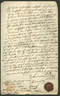 1872. SÁROSPATAK , Dekoratív, Judaica Dokumentum, A Rabbi Aláírásával, Hitközségi Viasz Pecséttel - Unclassified