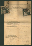 BUDAPEST 1916. Pesti Hengermalom, Dekoratív Leletjegyzőkönyv - Unclassified