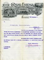 BUDAPEST 1916. Riedel Ferenc Tejnagykereskedő, Dekoratív, Fejléces Papír - Bills Of Exchange