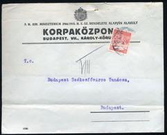 BUDAPEST 1917. Helyi Levél Céglyukasztásos Bélyeggel - Used Stamps