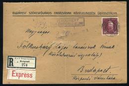 . VH 1917. Expressz-ajánlott Levél EP Belgrad Budapestre Küldve - Covers & Documents