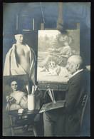 1910. Ca. A Festő, Fotós Képeslap - Unclassified
