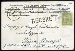 BECSKE 1902. Képeslap, Pályaudvari Bélyegzéssel - Used Stamps