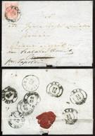 PÁPA 1855. Pápa Városa,gabona árjegyző Könyvének Kivonata, érdekes 3kr-os Levél , Hátoldali 8 Db Bélyegzéssel Tapolcára - Covers & Documents