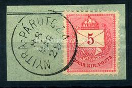 NYITRAPÁRUCZA 5 Kr Szép Bélyegzés - Used Stamps