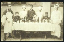 Katonák, Söröznek, Fotós Képeslap  1915. Ca. - Hungary