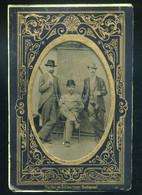 1860. Ca. Ferrotípia, Dekoratív , Fotó Tartó Tasakban - Old (before 1900)