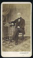 POZSONY 1860-65. Ca. B.S. Schönwald : Férfi Portré, Igen Ritka Visit Fotó - Old (before 1900)