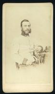 Josefstadt 1865. Raunigg K.u.K. Tiszt , Visit Fotó - Old (before 1900)