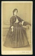 WIEN 1860-65. Ferd. Küss : Hölgy, Visit Fotó - Old (before 1900)