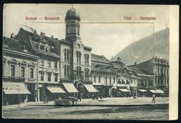 BRASSÓ 1913. Főtér, Leporellós Képeslap - Romania