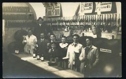 BUDAPEST 1936.Borozó Belső, Személyzet érdekes, Fotós Képeslap - Unclassified