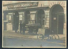 """BUDAPEST 1920. Ca. Tóth Mihály Borháza A """"Csavargó Korcsmároshoz"""" Régi Fotó  11*8cm - Unclassified"""