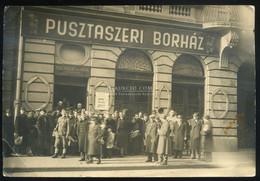 BUDAPEST 1940. Ca. Pusztaszeri Borház, Hajós Utca 31, Régi Fotó A Vendéglős Bélyegzőjével - Unclassified
