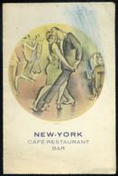 BUDAPEST 1928. New York  Café Restaurant Menükártya, Molnár C. Pál Szignós Grafikával! - Unclassified