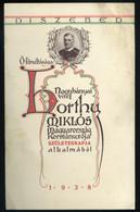 BUDAPEST 1938. Díszebéd ,  Horthy Miklós Születésnapjának Alkalmából, Menükártya, Térképészeti Intézet - Unclassified