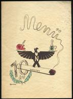 BUDAPEST 1940. Menükártya, Nikotex Grafikával, Sign Macskássy - Unclassified