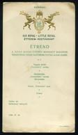 BUDAPEST 1938. Kis Royal Étterem Korányi , Menükártya Nemzetközi Vásár Sajtóbemutatója Alkalmából - Unclassified