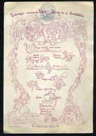 BUDAPEST 1928. Ünnepi Vacsora Dr. Vass József Tiszteletére  , Menükártya , étlap - Unclassified