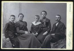 ARAD 1900-10. Klopok :  Család, Cabinet Fotó - Unclassified
