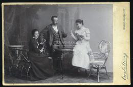 MAROSVÁSÁRHELY  1900-10. Csonka :  Család, Kártya, Cabinet Fotó , Műtermes Verso - Unclassified