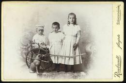SZÉKESFEHÉRVÁR 1910.ca. Rembrandt : Gyerekek Kutyával, Cabinet Fotó - Unclassified