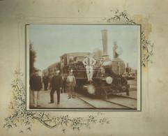 1900-10. Cca. Budapest, MÁV Mozdony, Pályaudvar, Ritka Fotó Képméret 24*18 Cm - Unclassified