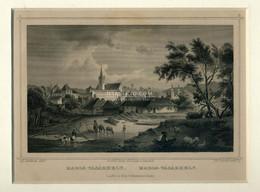 MAROSVÁSÁRHELY 1850-60. Ca. Roboch Metszet, Paszpartuban , Szép! - Unclassified