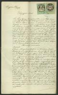 """1876. Házassági Szerződés """" Héber Hitszertartás Szerint"""" Okmánybélyegekkel - Unclassified"""