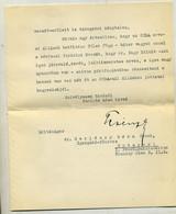 Báró Perényi Zsigmond Aláírt , Postázott Levele Dr Gerlóczy Gézához 1934. - Unclassified