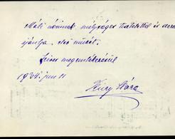 """Küry Klára  által Dedikált Kottalap """" Tisztelettel és Szeretettel Ajánlja Első Művét.."""" 1934. - Unclassified"""