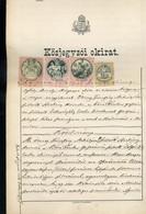 Közjegyzői Okirat 1886. 20+10+6 Ft 25kr Okmánybélyegekkel - Unclassified