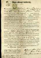 1857. Dekoratív Jogi Dokumentum, Sátoraljaújhely - Unclassified