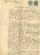 1876.  Dekoratív Jogi Dokumentum Okmány , Illeték Bélyegekkel, Aláírók Közt Héber Nyelvű Is. Judaica - Unclassified