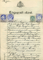 1898.  Dekoratív Jogi Dokumentum Okmány , Illeték Bélyegekkel, 4 Oldalas Házassági Szerződés Judaica - Unclassified
