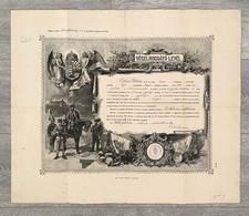 SZÉKESFEHÉRVÁR 1912. Dekoratív, Katonai Vég Elbocsájtó Levél - Unclassified