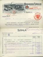 BUDAPEST 1923. Haidekker Sándor Kerítésgyár, Dekoratív, Fejléces,céges Számla - Unclassified