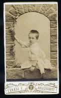 KOLOZSVÁR 1890. Ca. Veress : Gyerek, Visit Fotó - Unclassified