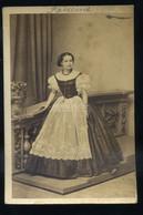 PEST 1860-65. Mayer : Pauli Richárdné Markovits Ilka (1839-1915) Operaénekesnő, Visit Fotó - Unclassified