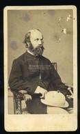 PEST 1865. Ca.  Borsos és Doctor : Jókai Mór , Visit Fotó (ritka, Kis Sérülések) - Unclassified