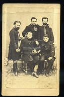 1860-65. Ludvig Menzel : Férfiak, Visit Fotó - Unclassified