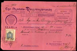EGER 1911. Egri Nyomda, Régi Fejléces, Számla - Unclassified